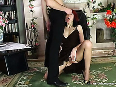 Kickass aged chick getting her mellow twat widen throughout silky hose