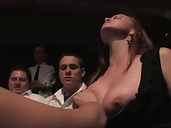 Worthless slut get to endure a gruelling public punishment