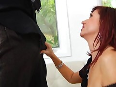 Hungry mature is desirous to get throat and whoppers drilled hard